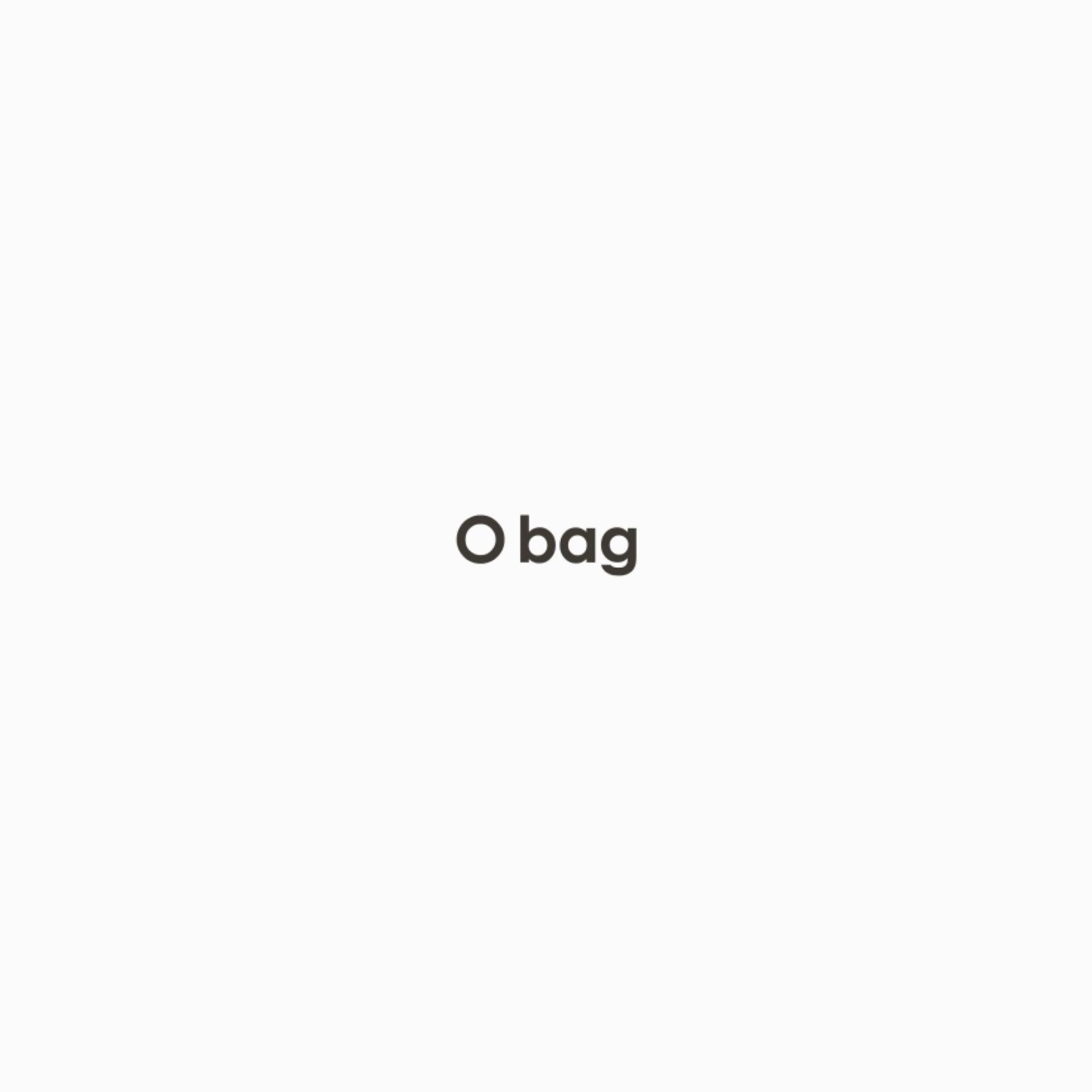 O bag sheen rame con pattina nera